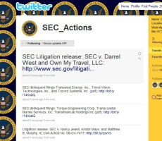 """SEC's """"SEC_Actions"""" Twitter Feed Out-of-Focus"""