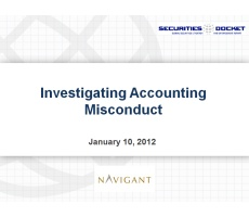 Archived Version and Materials for Jan. 10 Webcast: Investigating Accounting Misconduct