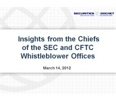 Archived Version for March 14 Webcast: Insights from the Chiefs of the SEC and CFTC Whistleblower Offices