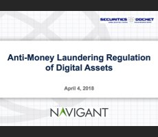 April 4 Webcast: Anti-Money Laundering Regulation of Digital Assets
