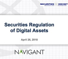 April 26 Webcast: Securities Regulation of Digital Assets