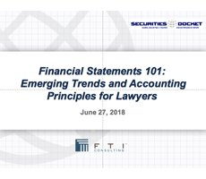 June 29 Webcast: Financial Statements 101 — Emerging Trends and Accounting Principles for Lawyers