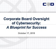 Oct. 17 Webcast: Corporate Board Oversight of Cybersecurity -- A Blueprint for Success