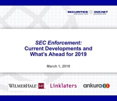 Mar. 1 Webcast: SEC Enforcement — Current Developments and What's Ahead for 2019