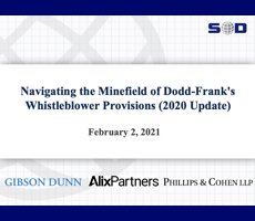 Feb. 2 Webcast: Navigating the Minefield of Dodd-Frank's  Whistleblower Provisions (2020 Update)